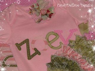 Custom newborn outfit Zoey