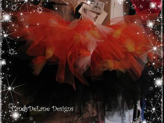 Halloween blk and orange with boa tutus 2010