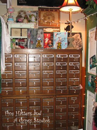 New antique card catalog piece for studio