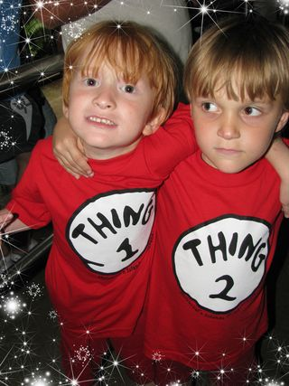 Rednesday pic of thing one and thing two jaden and jon jon