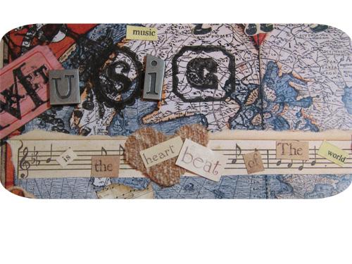 Music altered art challenge 6