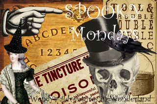 Spooky Mondays banner for blog top