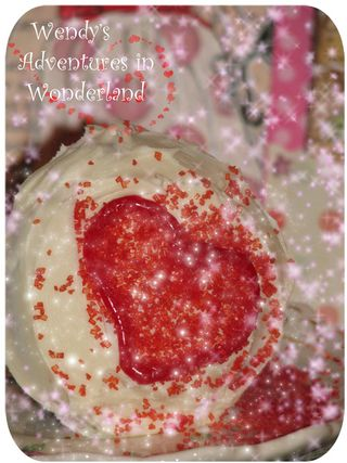 One heart cupcake for valentines