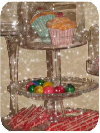 Cake stand with goodies close up 3
