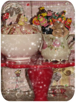 Cake stand with goodies close up 2