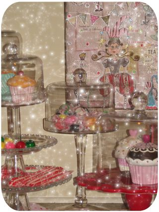 Cake stand with goodies close up 4