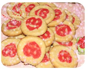 Heart cookies for valentines