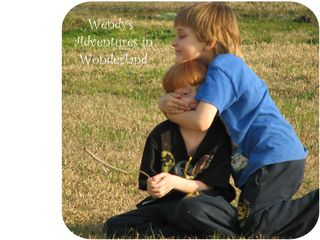 Jonjon and jaden playing in pasture february 2011