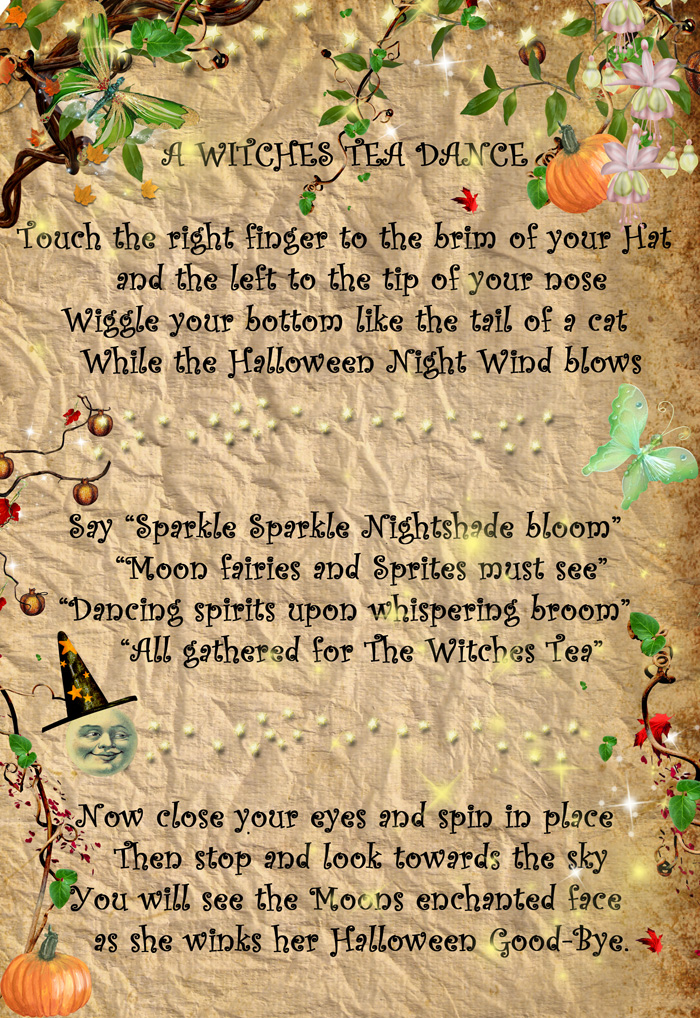 Witches Tea Dance Sheet