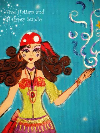 The Toadstool Gypsy painting 021 copy