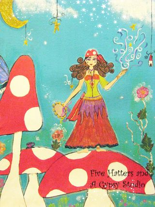 The Toadstool Gypsy painting 008 copy
