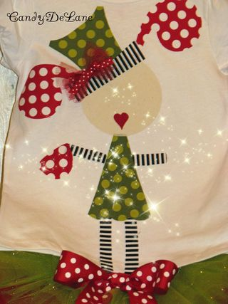 Santa girl and christmas tea party girl shirt 007copy