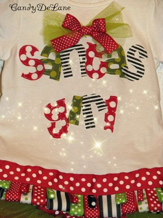 Santa girl and christmas tea party girl shirt 005copy