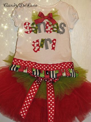 Santa girl and christmas tea party girl shirt 003copy